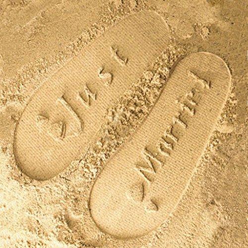 Mens Black Just Married Symbol Honeymoon Imprint Flip Flops Ife22oHD