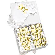 NAVI Baby 12 Pack Bodysuits - Gift Set for Newborns - 12 Months of onesies