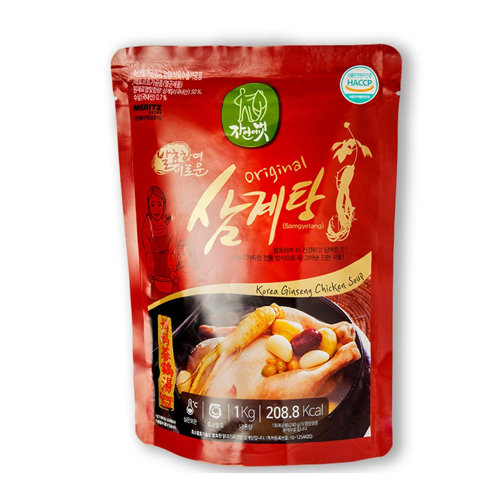 Jayeonabut Original Samgyetang Chicken soup with Herbal Medicine, 1 box (15 ea) by Jayeonabut