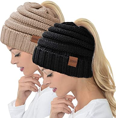 Ladies Cable Knit Beanie New 3 Colours One Size