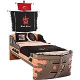 Cilek 20.13.1317.00 Pirate Ship Children Bed Frame, Twin, Brown