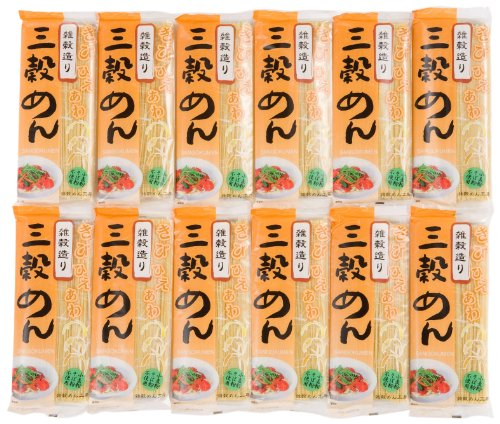 Natural potato buckwheat three grain noodles 180gX12 boxes by Buckwheat natural potato