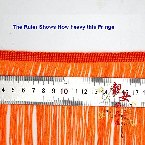 Yalulu 10 Meter L/änge 15cm Breite Quaste Seidig Fransen Geschnitten Fransenborte Kost/üm Quaste trimmen Garment Apparel Spitzenborte N/ähzubeh/ör Orange