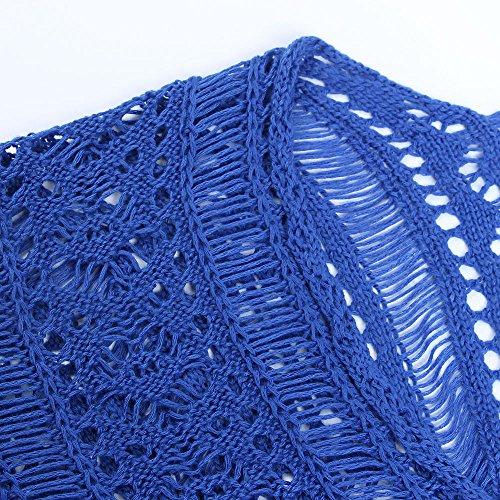 Bikini Vestito Elegante Scuro Lungo Vestiti Estivo Mare Da Costume Blu Coprono Lunghi Beautyjourney Donna Copricostume Costumi Spiaggia Abito wgzRTx