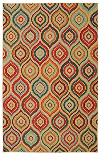 Mohawk Home Woodbridge Larache Geometric Ogees Printed Area Rug  5X8   Multicolor
