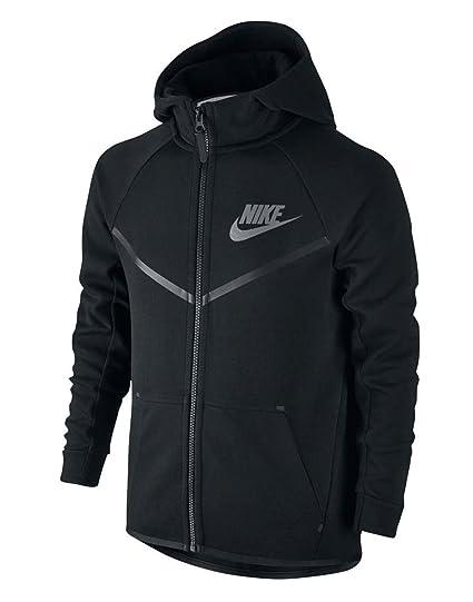 315bfa53a125 NIKE Sportswear Tech Fleece Windrunner Boys Youth Big Kids Black Cool Grey  804730-011 (
