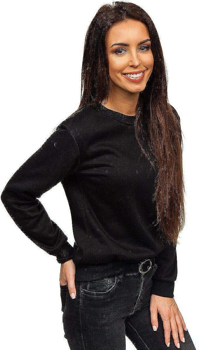 BOLF Mujer Sudadera Lisa Cl/ásica Estilos Casual A1A