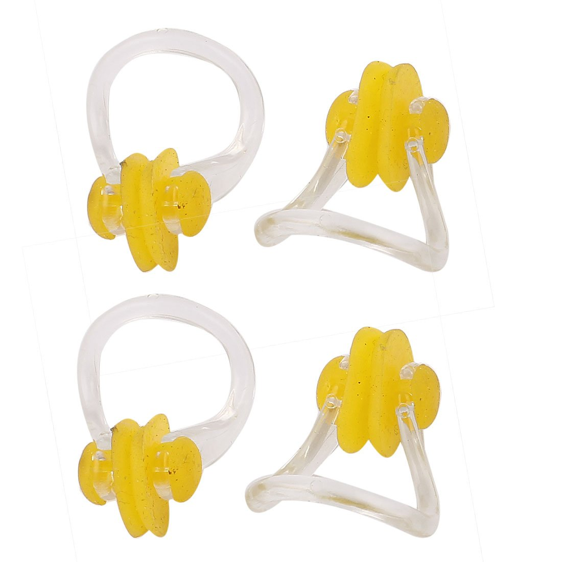 sourcingmap® Plastic Frame Swim Training Swimming Noseclip Nose Clip 4pcs Clear a15061000ux0271