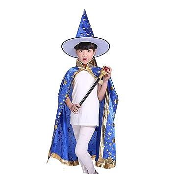 Tinksky Halloween Kostüme Hexe Zauberer Umhang mit Hut für Kinder ...