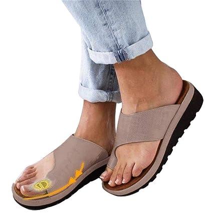 Sandalias Nuevos zapatos de viaje de playa para el verano Sandalias de plataforma de verano 1 par Sandalias correctoras ...