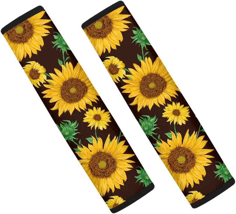2 Pieces Belidome Colorful Rainbow Tie Dye Car Seatbelt Pads for Women Washable Soft Shoulder Cushion
