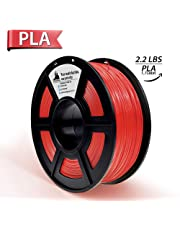 3D Hero PLA 3D Printer Filament Red,1.75 mm,1 kg Spool(2.2lbs), Dimensional Accuracy +/- 0.02 mm(Red)