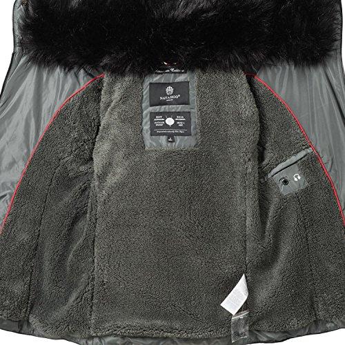 565e207b9bba ... Navahoo Damen Jacke Winterjacke Steppjacke Yuki2 (vegan hergestellt) 7 Farben  XS-XXL Dunkelgrau ...