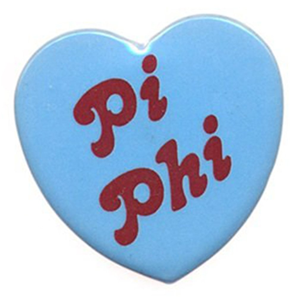 Amazon com: Pi Beta Phi Heart Shaped Button: Clothing