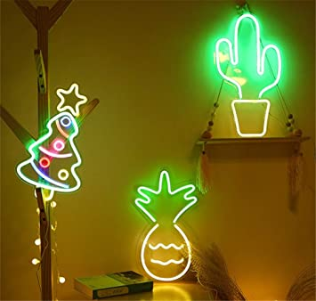 Neon Light Sign Led Cactus Night Lights Usb Operated Decorative Marquee Sign Bar Pub Store Club Garage Home Party Decor Amazon Ca Tools Home Improvement