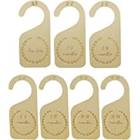 Brimstone 7pcs Wooden Baby Closet Dividers, from New-born to 24 Months, Wood Baby Cloth Organizers Infant Wardrobe…