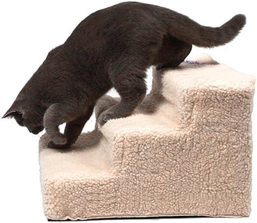 Escaleras Portátiles De Mascotas con Easy Step para Gatos Perros o Conejos para Subir o Bajar, Incluye una Funda de Pelusa para Protegerlos, 35 x 45 x 30 cm: Amazon.es: Productos para mascotas