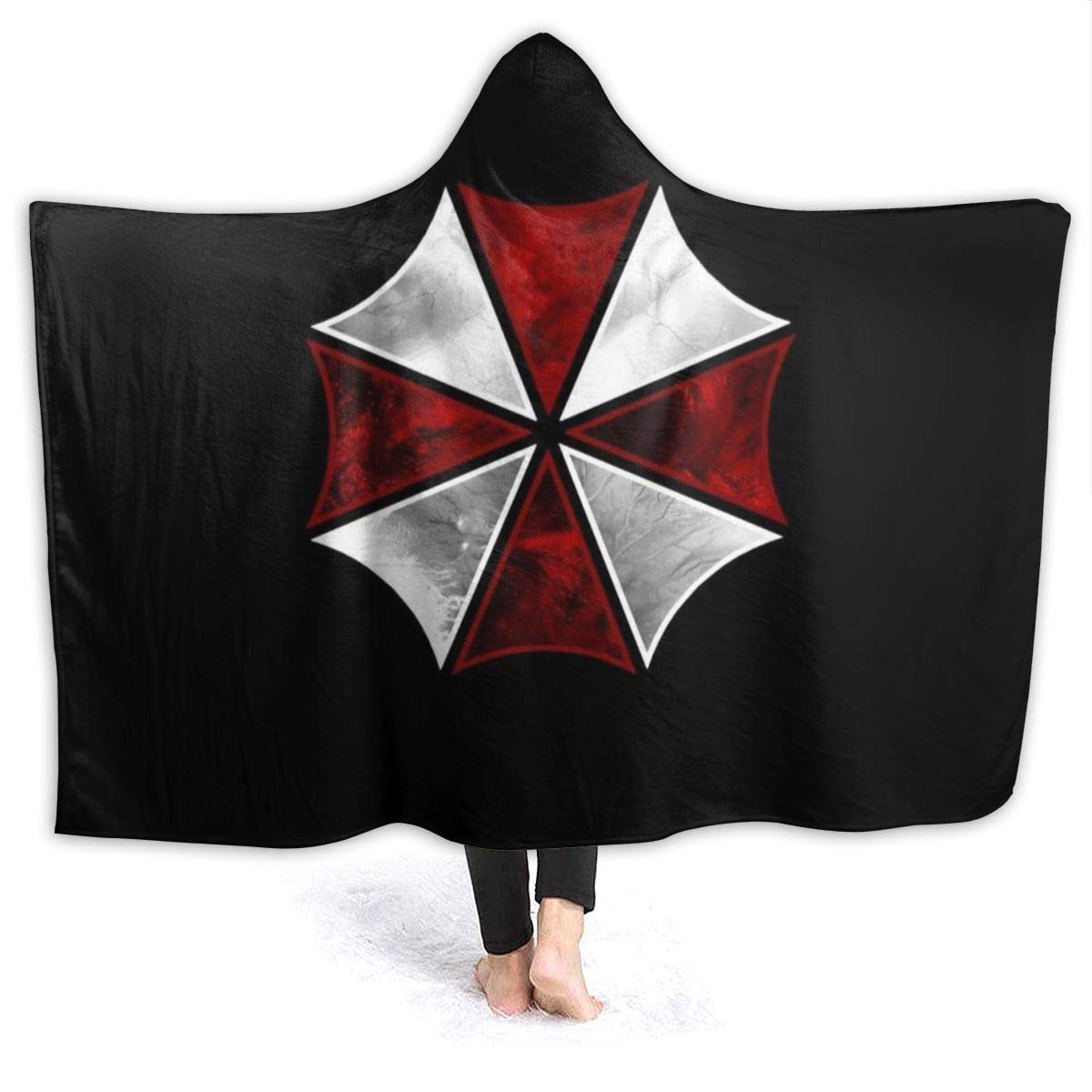 Blanket Hoodie Resi-dent Evil Hooded Throw Blanket Soft Cloak Shawl Wrap for Adult and Kids by COPEN