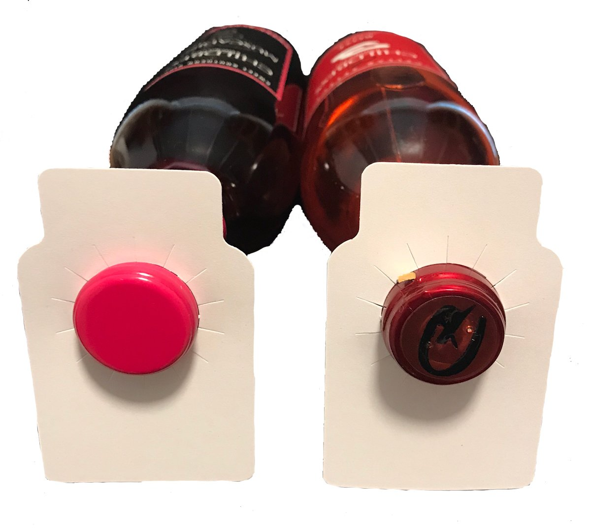 Blank wine bottle paper hang tags - 220 pieces - made in USA by Memory Cross (Image #1)