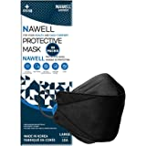 [30 Packs] NAWELL Face Mask 4 Layer Filter Structure Lightweight Black_Face Mask Made in Korea [30 Individually Packaged]