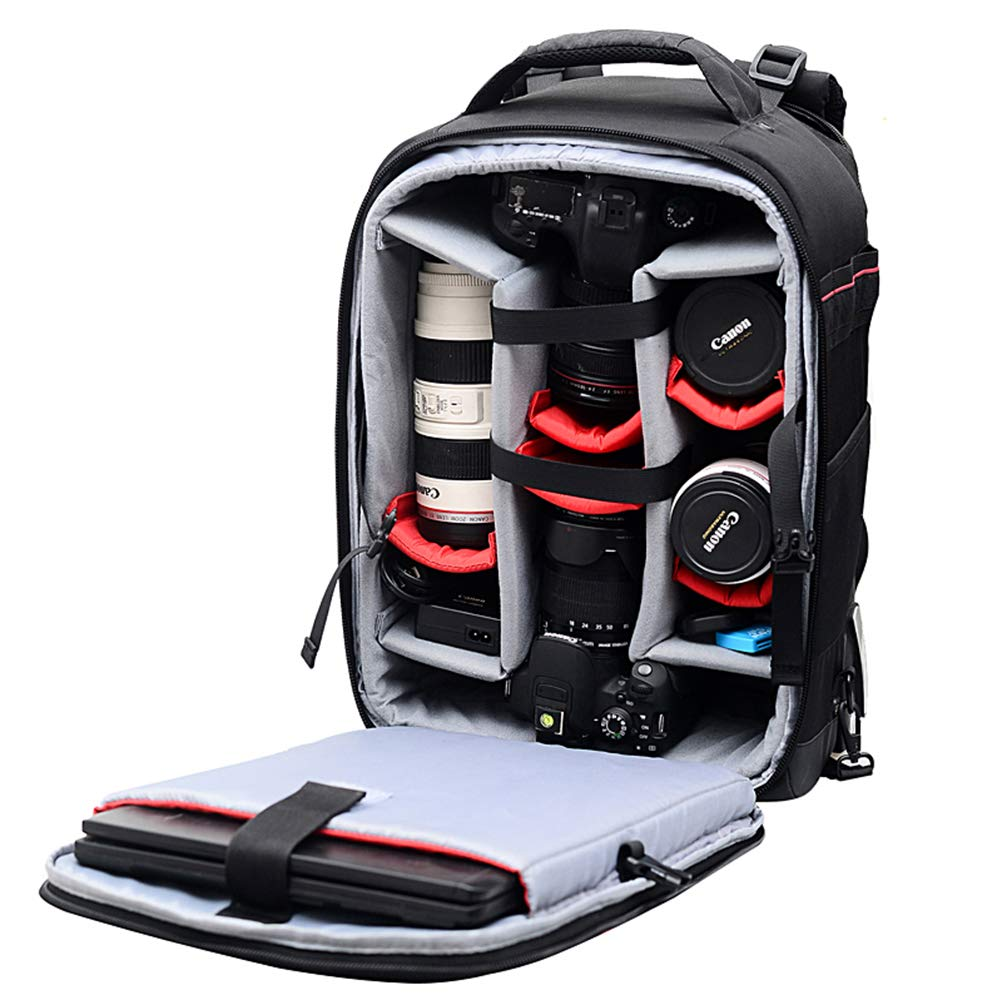 Mens Large-Capacity Multi-Function Retro SLR Camera Outdoor Travel Multi-Purpose Backpack,ArmyGreen LILINSS Digital Camera Backpack