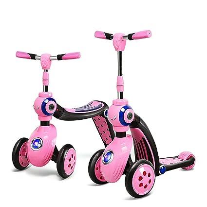 Amazon.com: HONEYJOY - Patinete 2 en 1 con 3 ruedas para ...