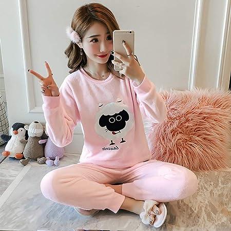 JYLW Pijamas Invierno Mujer Conjunto De Pijama para Mujer ...