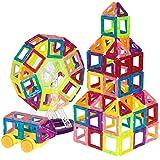 New 158-Piece Clear Multi Colors Magnetic Tiles Educational STEM Toy Building Set