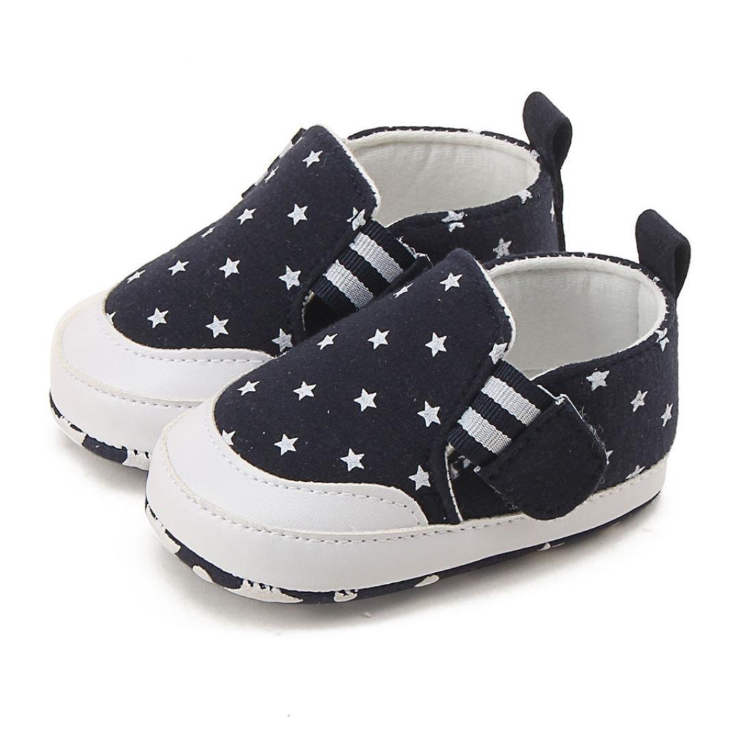 squarex Girl Boy Print Crib Shoes Weiche Sohle Anti-Rutsch Sneakers 12-18 Months navy Schuhe f/ür 0 18/Monate Baby