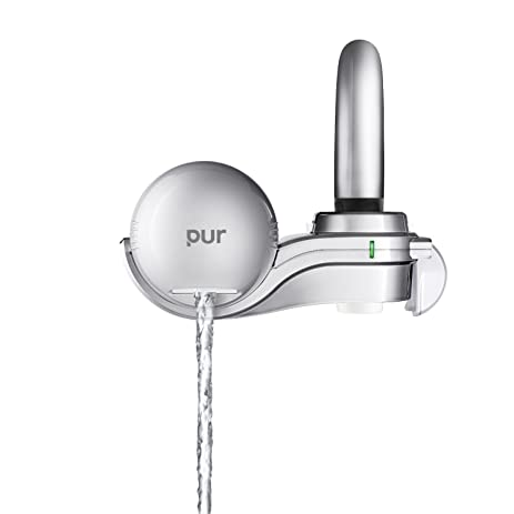 PUR 3-Stage Silver Matte Horizontal Water Filtration Faucet Mount FM ...