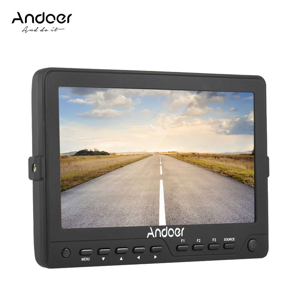 Andoer AD702 7Inch HD 1280×800 IPS Screen Camera Field Monitor 400cd/㎡ Ultra-thin for High Definition Multimedia Interface AV Input and Output for DSLR Camera Camcorder by Andoer