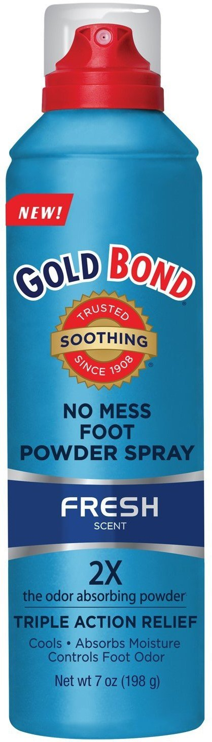 Gold Bond No Mess Foot Powder Spray, Fresh 7 oz (Pack of 10) by Gold Bond