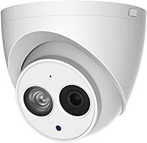4MP Outdoor PoE IP Camera IPC-HDW4433C-A 2.8mm, Dome Security Camera with Audio, Built-in Mic, IR 164ft Night Vision, Smart H.265 WDR, IVS, IP67, International Version