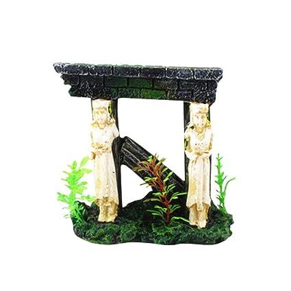 hunpta Figura decorativa para acuario, pecera, acuario, pecera, cueva, diseño de