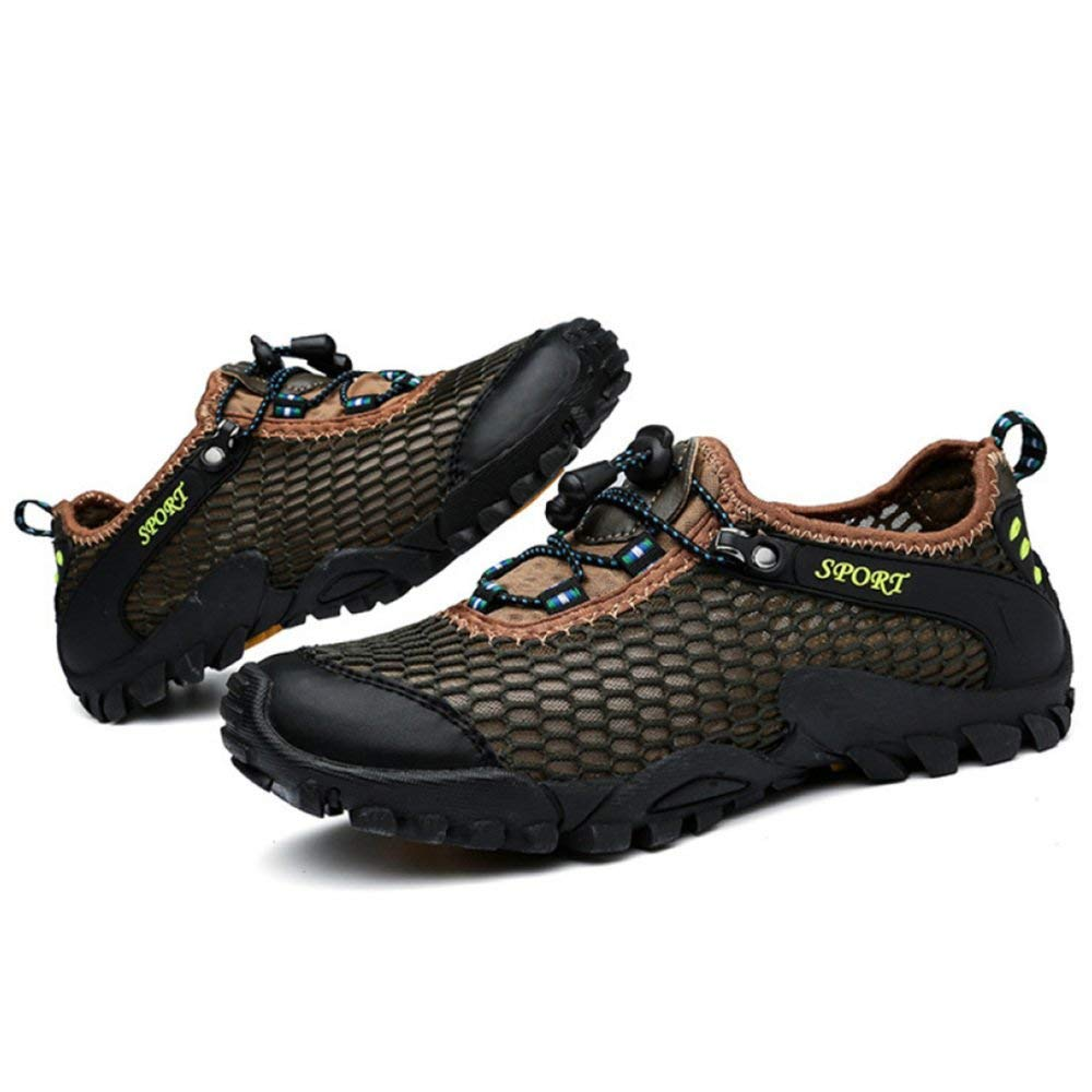 Hohe Qualität Männer Und Frauen Sommer Outdoor Sandaleen Wasser Schuhe Amphibious Beach Schuhe Casual Sportschuhe Wanderschuhe Verbesserte Version (Farbe : Grün, Größe : 45EU)