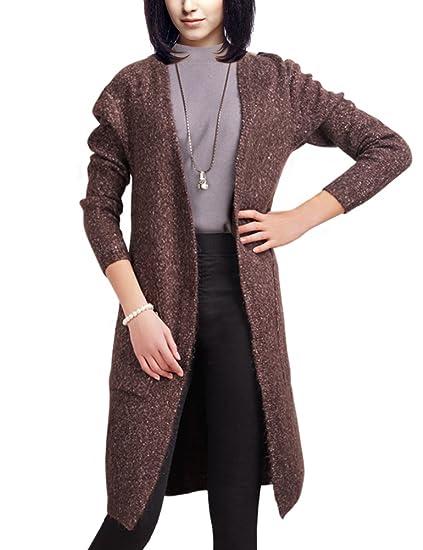 Deluxsey Wool Blend Open Cardigan Sweaters For Women Womens Knit