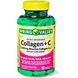 Spring Valley Highly Absorbable Collagen + Vit C 90 ct (pack of 1)