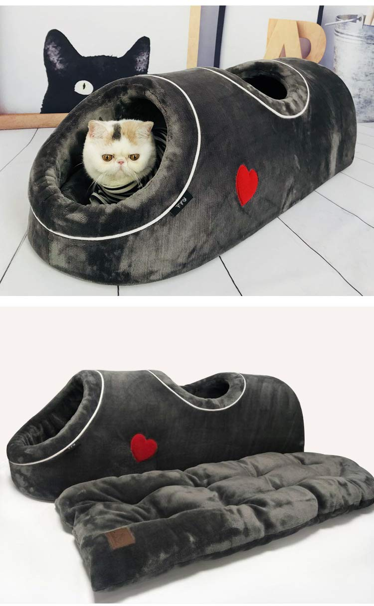 Pet Cat Nest, Winter Warm Cat Bed, Flanella Cats Cats Cats Sleeping Bag,E 4ba320
