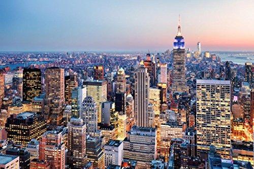 g New York City NYC Skyline Photo Art Print Poster 36x24 inch ()