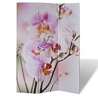 vidaXL Paravent cloison séparateur de pièce Mer/Fleurs 120/160/200/240 x 180 cm