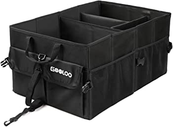 Gooloo Car Trunk Multi-Compartments Collapsible Durable Organizer Box