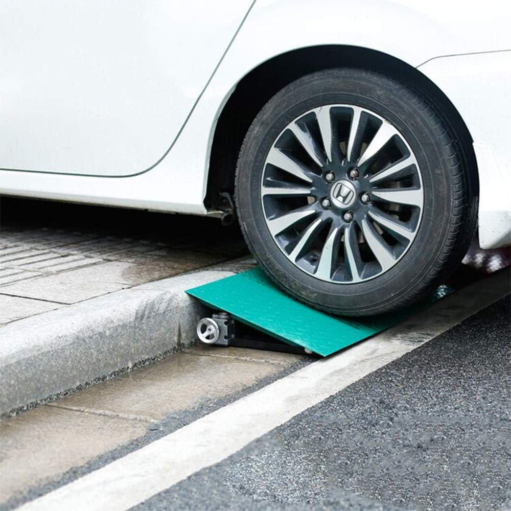 Almohadilla de pendiente para coche, antideslizante para exteriores Rampas de servicio de almohadilla cuesta arriba de goma para coche Slope, para sillas de ruedas, motocicletas y automóviles,Green