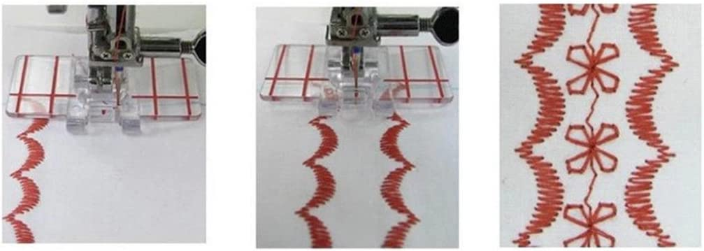 ZHOUBA Clear Plastic Parallel Stitch Foot Presser for Home Domestic Sewing Machine Tool