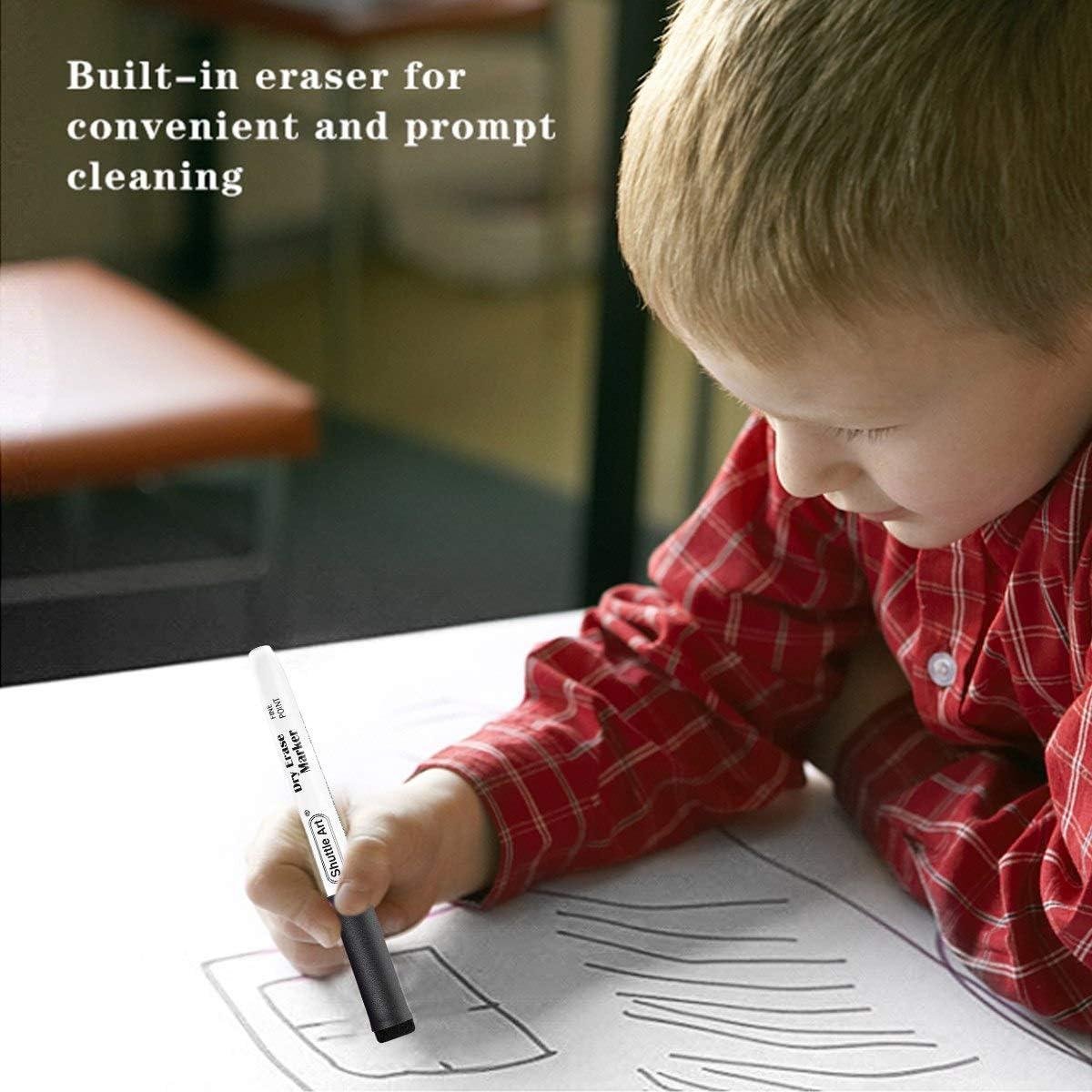 lavagne a secco specchi Pennarelli cancellabili a secco neri pennarelli magnetici per lavagna con confezione da 60 pennarelli cancellabili a secco a punta fine perfetti per scrivere su lavagne