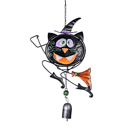 hd halloween hanging decorations pumpkin cat witch enameled glass ornaments wind chimes