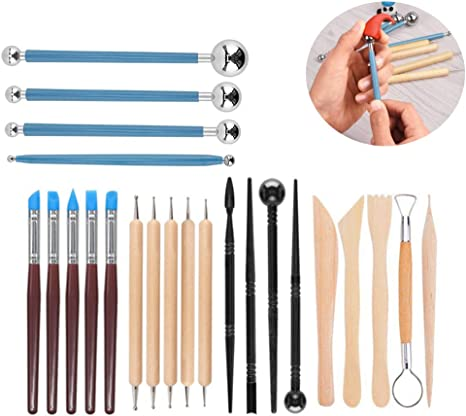 23 Pcs High Quality Pottery Sculpture Carving Modelling Ceramic DIY Clay Tools