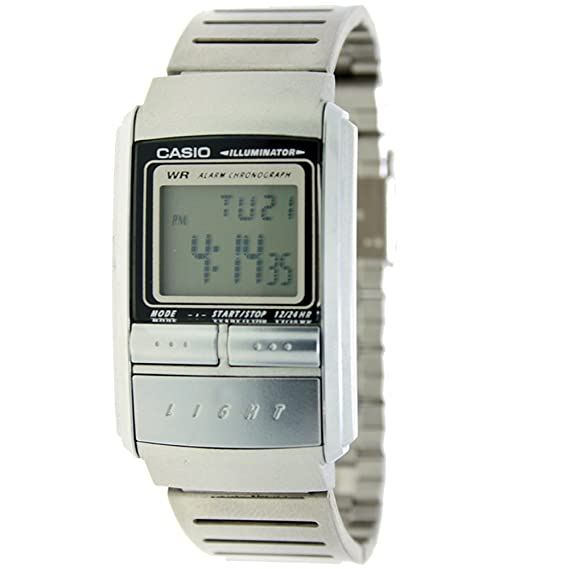 CASIO LA-200WE-1Q - Reloj de señora digital - Crono, Alarma y Luz - Acero inoxidable: Amazon.es: Relojes