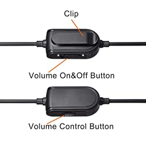 A10 A40 Replacement Cable Inline Mute Volume Control with Microphone for Astro A10 A30 A40 A50 Headsets Cord Lead Compatible with Xbox One Play Station 4 PS4 Headphone Audio Extension Cable 6.5 Feet (Color: Black)