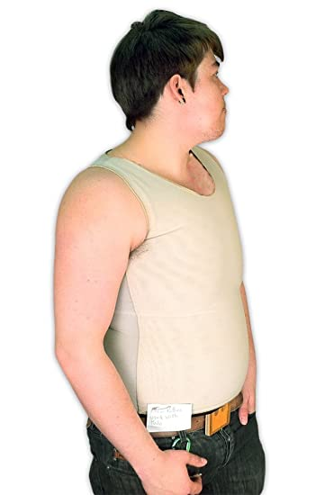 Tranz* Forms Bind-Rite PowerNet Sleeveless FTM Chest Binder with Double  Panel Front, Beige (Small)