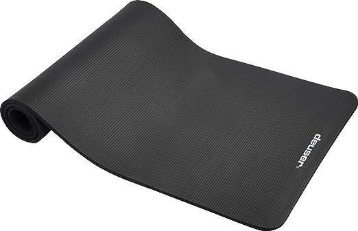 Deuser Yoga Matte Pilates Matte Yoga Mat schwarz Gymnastikmatte Yogamatte